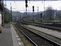 Railway railroad tracks Stock Photography