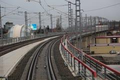 Railway. Railroad on the way to Krasnaya Polyana Royalty Free Stock Photos