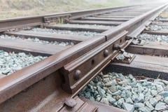 Railway rails on cross ties Stock Image