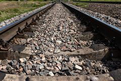 Railroad in the countryside royalty free stock photo