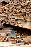 Railway rails scrap 9 Stock Photo