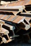 Railway rails scrap recycling 6 Stock Photos