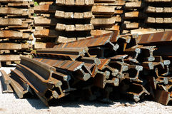 Railway rails scrap recycling 7 Royalty Free Stock Image