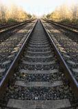 Railway rails  straight ahead, perspective. Railway rails  straight ahead,perspective Royalty Free Stock Photography