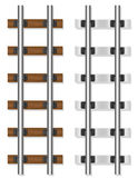Railway rails wooden and concrete sleepers vector illustration Stock Photography