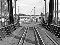 RailWay. In Sweden. Black and white royalty free stock photo