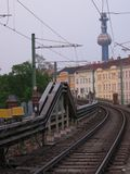 Railway of rapid transit metro in Vienna Stock Photos