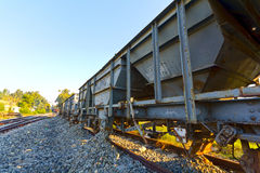 Railway repair wagons Royalty Free Stock Photo