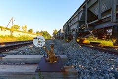 Railway repair wagons Royalty Free Stock Image