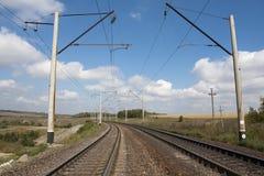 Railway road Stock Photos