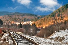Railway Road Stock Photography