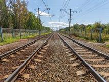 Railway road Stock Images