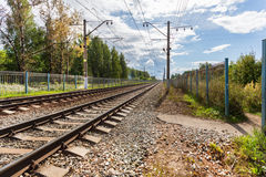 Railway road Royalty Free Stock Images