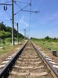 Railway road Royalty Free Stock Photos