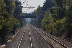 Railway road in Greece Royalty Free Stock Image