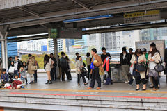 Railway road in kobe station, Japan Stock Photography