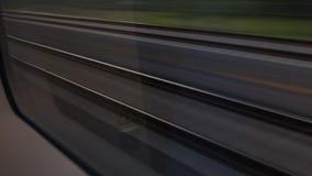 Railway road moving. Loop stock video
