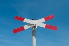 Railway road sign Stock Image
