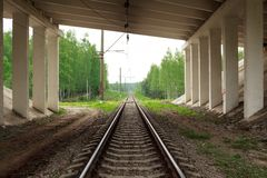 Railway road Stock Photography