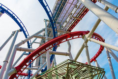 Railway of roller coaster Royalty Free Stock Photo