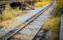 Railway at rural area Royalty Free Stock Photo