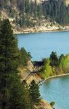 railway s озера края Стоковые Изображения