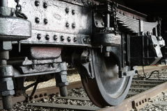 Railway's wheel. The wheel of the railway stock photos