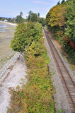 Railway by the sea Royalty Free Stock Photography