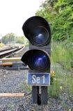 Railway semaphore. View of a small railway semaphore Royalty Free Stock Image