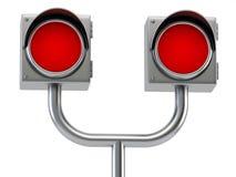 Railway semaphore. Metallic railway semaphore on white background royalty free illustration