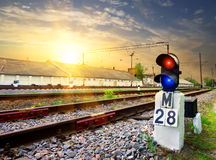 Railway semaphore Royalty Free Stock Photo