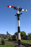 Railway semaphore Stock Images