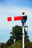 Railway semaphore signal. Royalty Free Stock Photo