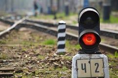 Railway semaphore Royalty Free Stock Images