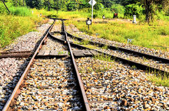 The railway shunt for transport Royalty Free Stock Images