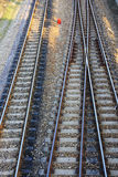 Railway and siding. On concrete sleeper in Thailand royalty free stock image