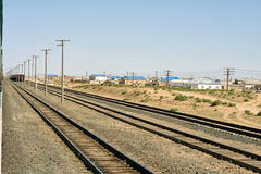 Railway siding. Royalty Free Stock Photos
