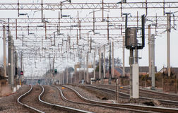 Railway sidings Royalty Free Stock Photography