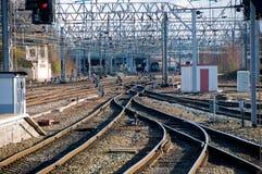 Railway sidings Royalty Free Stock Photos