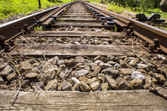 Railway sidings details 009-130509 Royalty Free Stock Photo