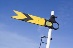 Railway Signal. Picture of a railway signal Royalty Free Stock Photos