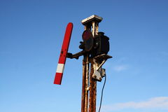 Railway signal B Stock Photo