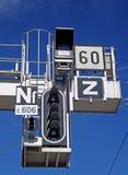 Railway Signal Gantry Royalty Free Stock Photos