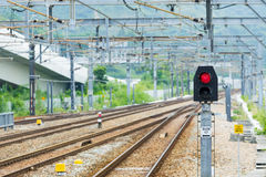 Railway and signal light Stock Image