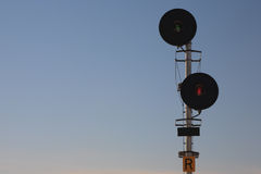 Railway Signal Lights Stock Photography