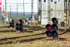 Railway signal Royalty Free Stock Image