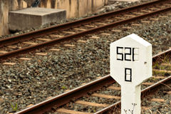 Railway signal. Royalty Free Stock Photos