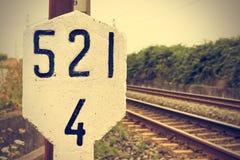 Railway signal. Royalty Free Stock Photos