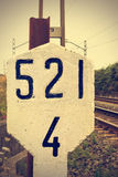 Railway signal. Royalty Free Stock Photo
