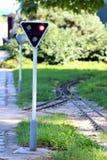 Railway signaling Royalty Free Stock Image